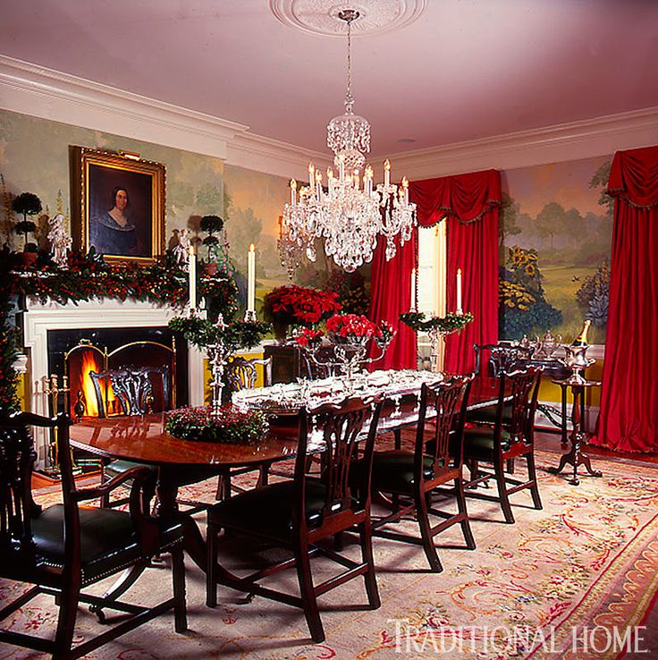 230 best tabletop images on pinterest tray tables for Traditional formal dining room