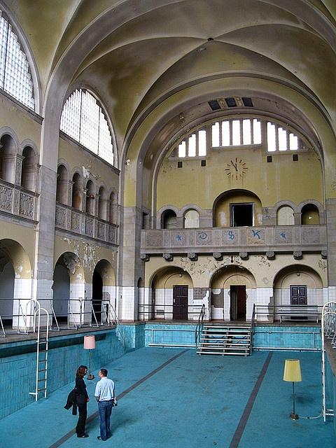 Abandoned hotel pools