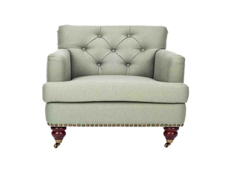 Safavieh Furniture   Evoking Classic Elegance, The Colin Club Chair In Sea  Mist Linen Upholstery Is A Timeless Design That Complements Traditional And  ...
