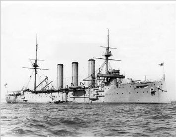 HMS Kent. Monmouth Class cruiser. Built 1901