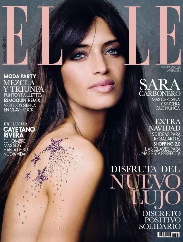 Sara Carbonero - Elle Magazine Cover [Spain] (December 2012)