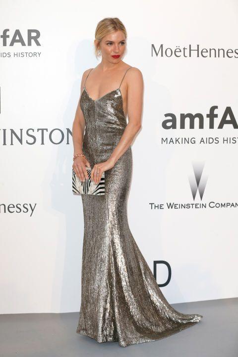 Sienna Miller at the Cannes amfAR gala.