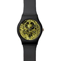 GOLDEN DANCING SHIVA YOGA WATCH