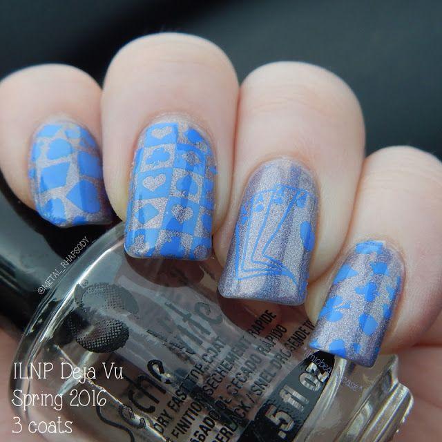 Poker stamping nail art