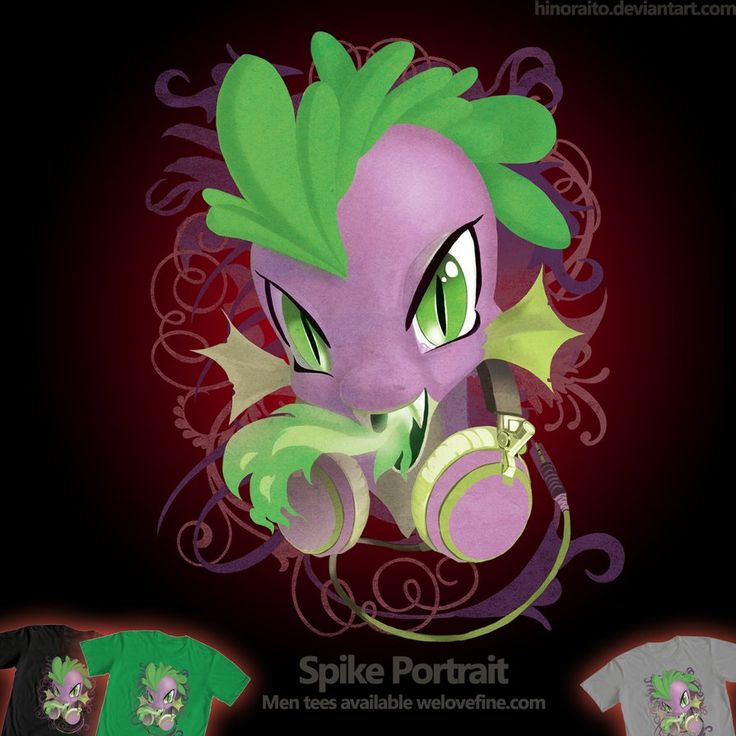 Mlp Wallpapers: Spike Headphone By =hinoraito On