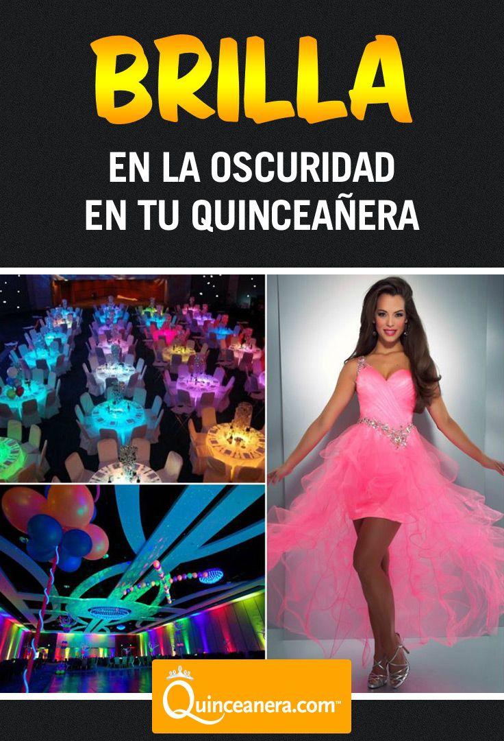 Apaga las luces y descubre la belleza del resplandor en la obscuridad | Qunceanera Themes | http://www.quinceanera.com/es/decoracion/las-ideas-mas-originales-jamas-hayas-visto-para-temas-de-quince/?utm_source=pinterest&utm_medium=social&utm_campaign=article-es-112015-decoracion-las-ideas-mas-originales-jamas-hayas-visto-para-temas-de-quince