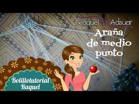 Araña Luna o Pececito. Bolillotutorial Adsuar - Encajes de Bolillos - YouTube