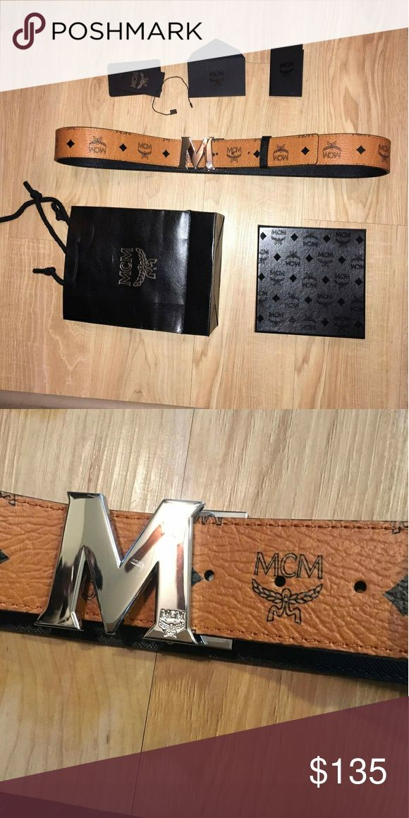 Mcm belt New with box and tags  100% leather UA quality Size 125 cm 36-50 Fast 2-3 days priority shipping MCM Accessories Belts