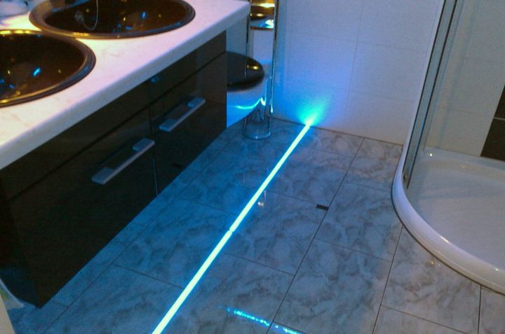 bodenbeleuchtung led leisten leds berzeugen pinterest. Black Bedroom Furniture Sets. Home Design Ideas