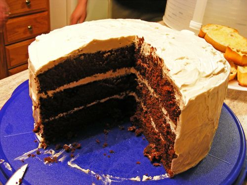 Mile-High Devil's Food Cake w/ Brown Sugar Buttercream