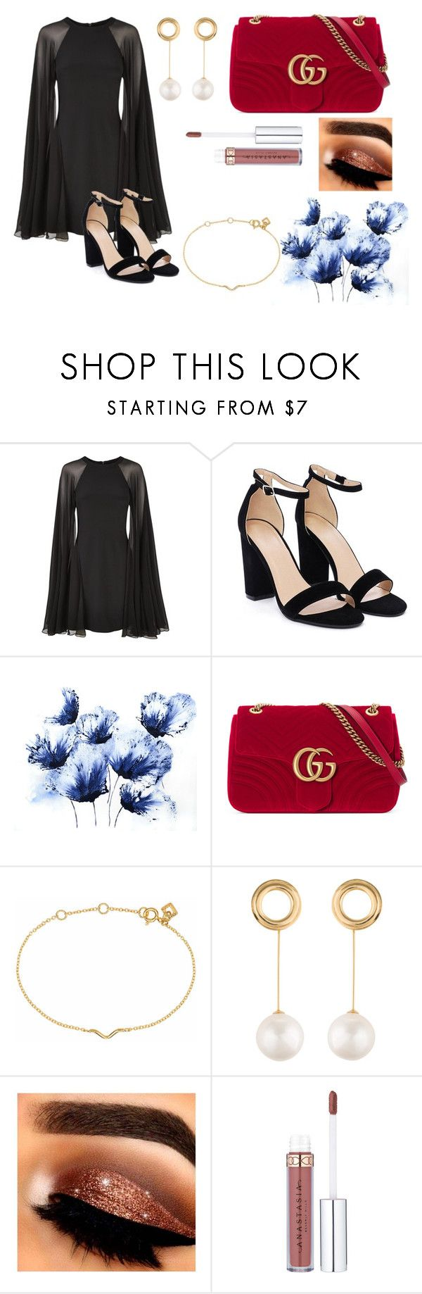 """""""Untitled #2"""" by morganbrooke2003 ❤ liked on Polyvore featuring Karl Lagerfeld, Nasty Gal, Gucci, Maya Magal and Joanna Laura Constantine"""