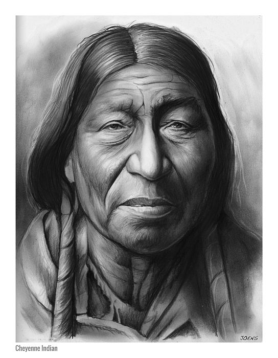 Cheyenne american indians graphites by greg joens www gregjoens com indian drawingpencil