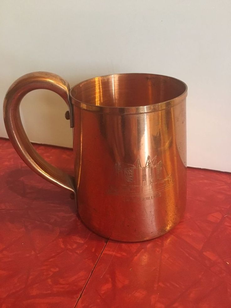Vintage West Bend Solid Copper Mug Moscow Mule Cup 1933 WORLDS FAIR CHICAGO  | eBay