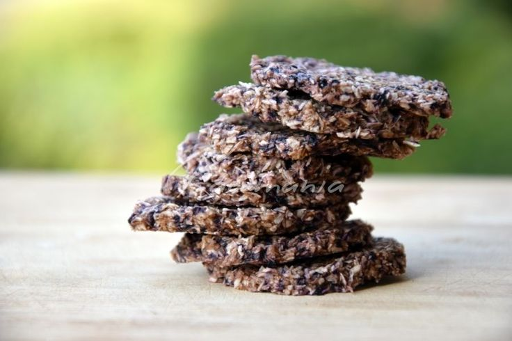 Raw borůvkové sušenky