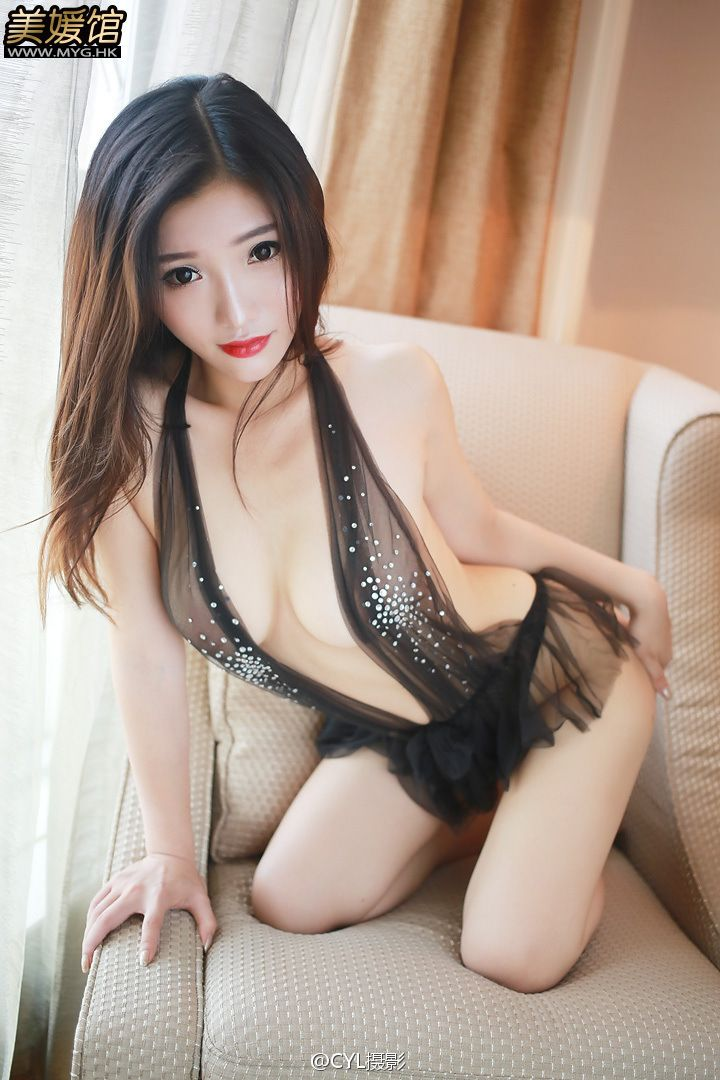 Anna徐子琦 See Through Nipples Black Lingerie by CYL摄影 | MYGIRL美媛馆