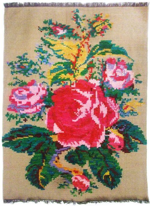 Moldavian Rug. roses
