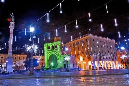 Lecce, Piazza Sant'Oronzo a natale