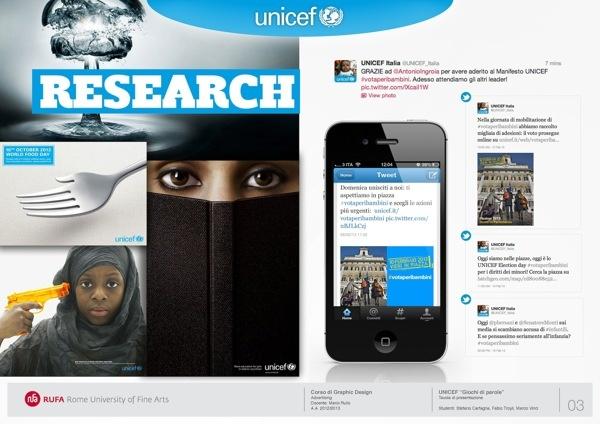 UNICEF - Giochi di parole by Fabio Troyli, via Behance