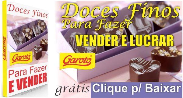 Disponibilizamos aqui no site essa super Apostila da Garoto - Doces Finos Para Fazer, Vender e Lucrar - Grátis, da chocolates Garoto. Nela você aprenderá p