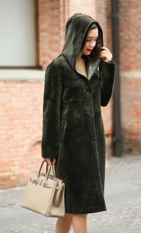 2017 Womens Both Sides Real Leather Overcoat with Hoody Genuine Sheep Leather Parka Winter Long Hooded Coats AU00909 ** AliExpress Affiliate's buyable pin. Find out more on www.aliexpress.com by clicking the VISIT button