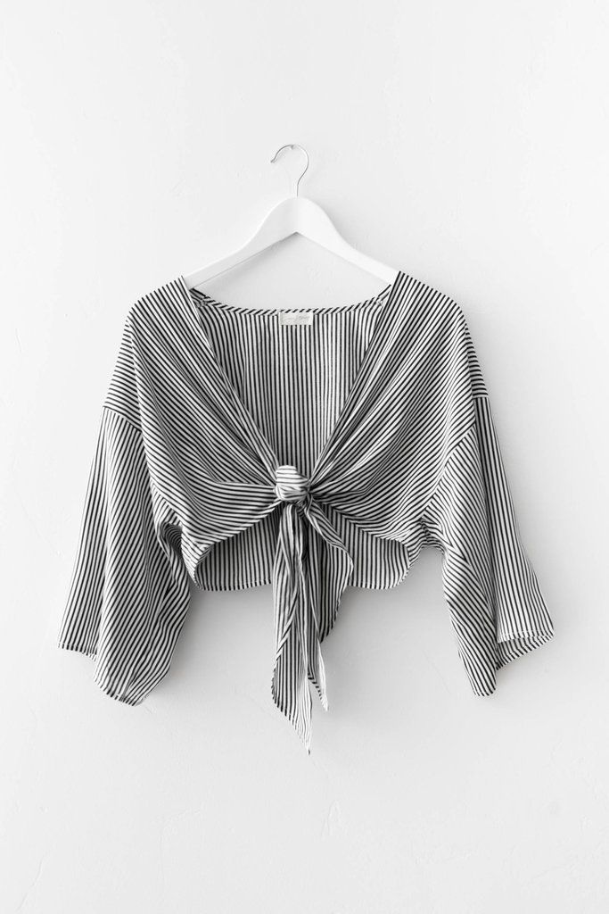 Love Street label Everly Striped Top releasing the end of July 2017 - Fill out our restock notification form to be notified as soon as they are available!! Blac