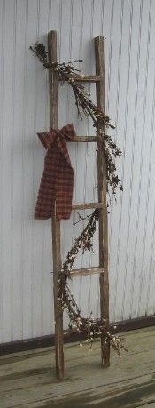 "Primitive Wooden Ladders,Painted Wooden Ladders,Stained Wood Ladders,Tabacco Lathe Ladders"">"