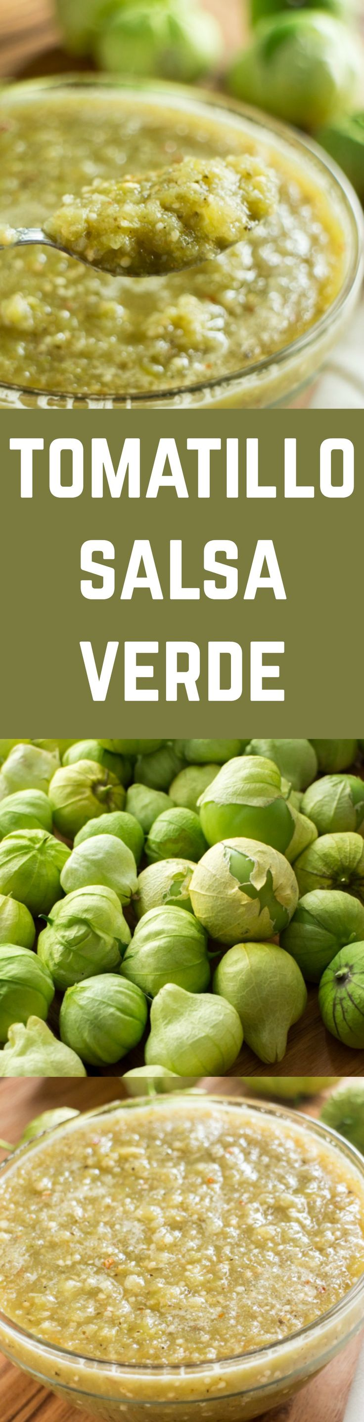 The best Salsa Verde recipe using fresh tomatillos and onions.  This recipe is easy to make and freezes great too!