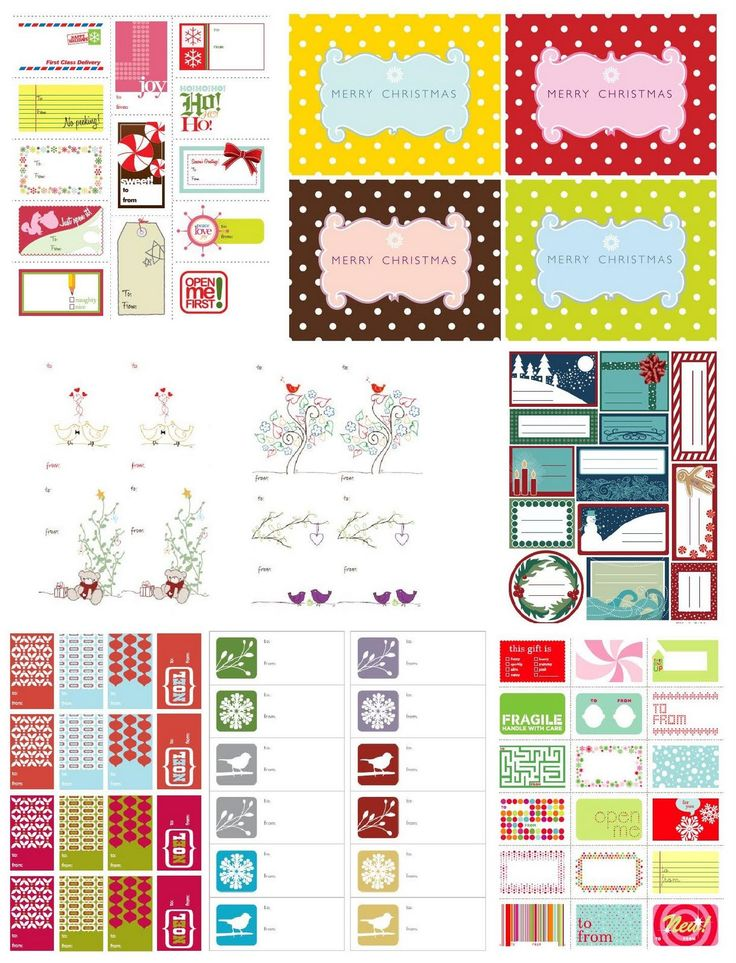 132 best printable gift tags images on pinterest free printables free printable christmas tags negle Choice Image