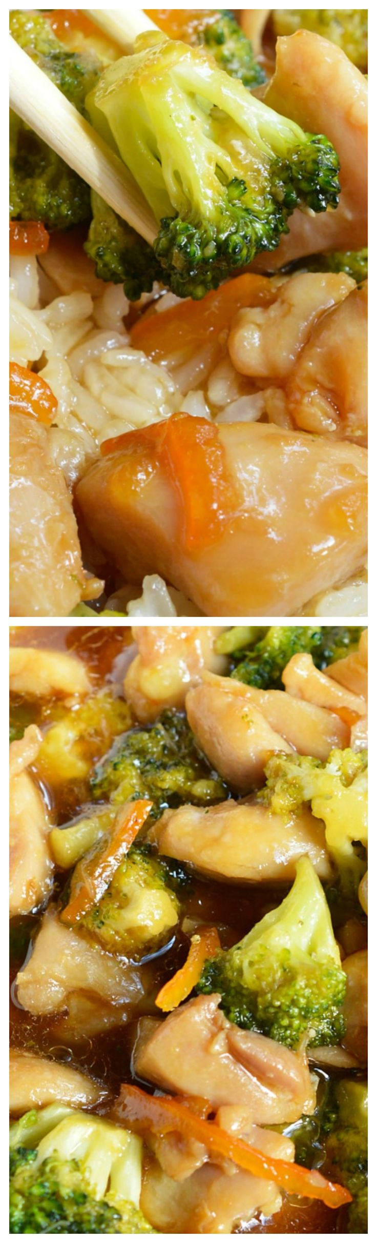 Orange Soy Chicken Broccoli ~ With six ingredients and about 20 minutes you can have a delicious Asian inspired meal.