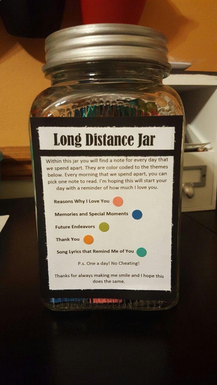 Long distance relationship jar for your loved ones Men