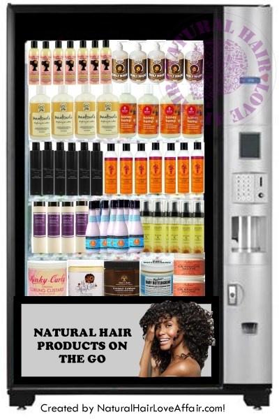 natural hair products vending machine Natural hair