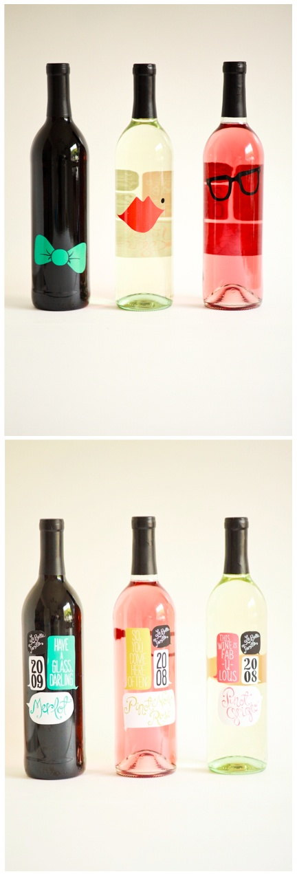 Perfect hostess gifts! Adorable wine bottles...