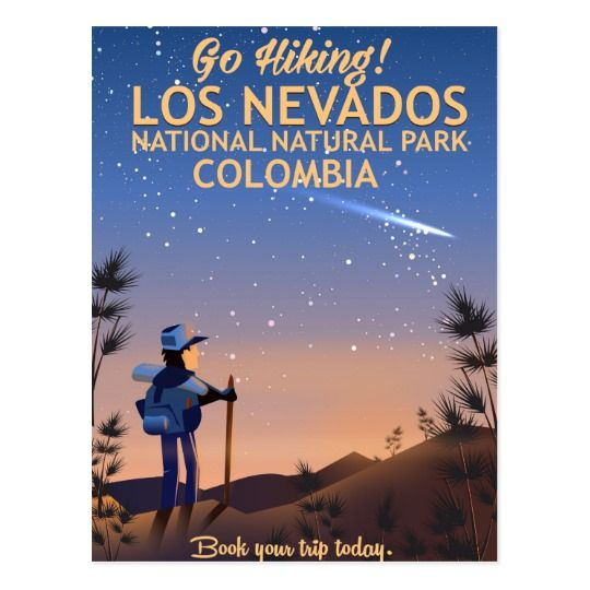 Los Nevados National Natural Park Travel poster Postcard