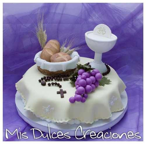 adorno para torta de comunión