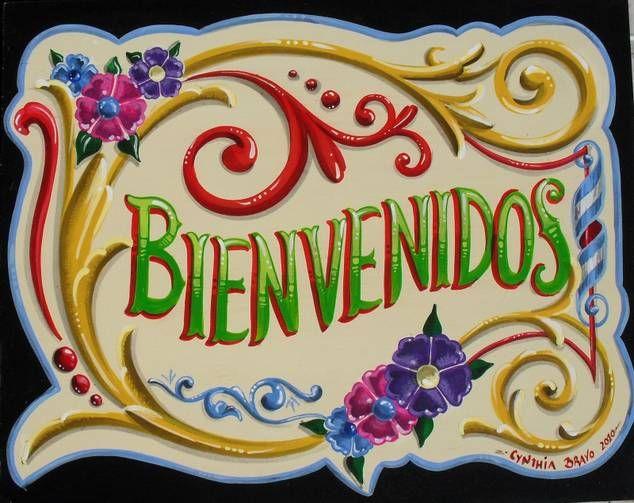 Bienvenidos a la clase de Español... DIY colorful welcome board/sign!