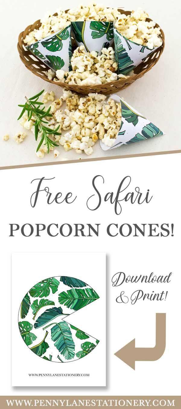 Free Printable Safari Popcorn Bags! – #dru …