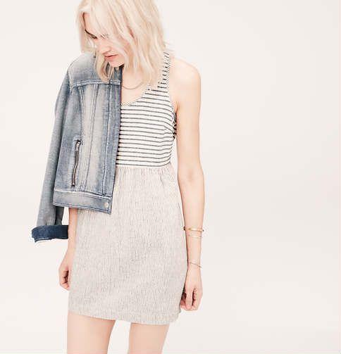 Lou & Grey Stripe Mix Dress   Loft