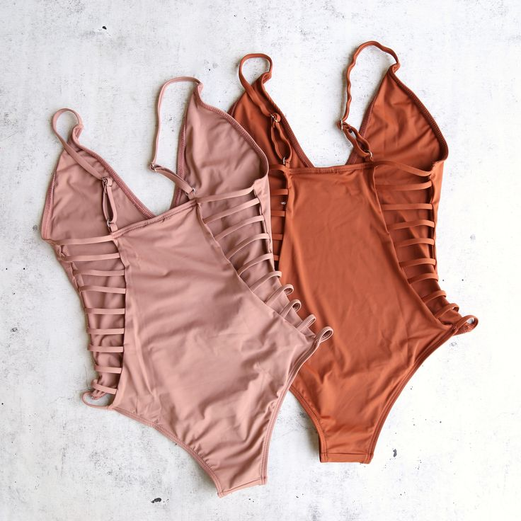 strappy back one piece - more colors