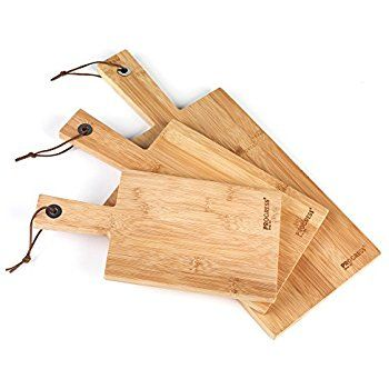 Wooden Paddle Chopping Board Set