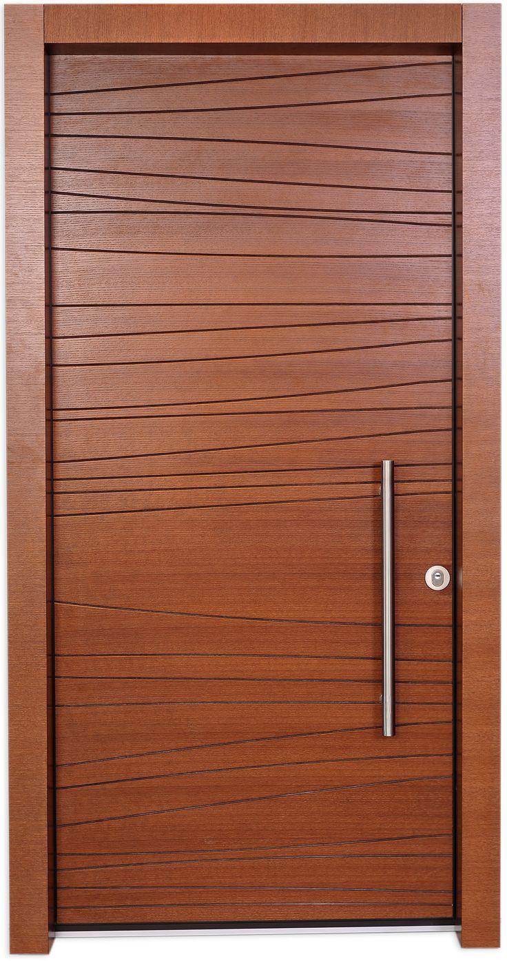 Shdema Door is designed using a simple free line engraved in a veneer board…