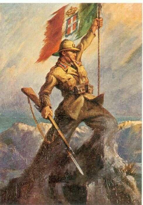 Uomo Roccia - Retorica fascista