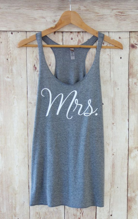 Mrs. Tank Top. Mrs. Shirt. Bridesmaid by TheLittleBridalShop