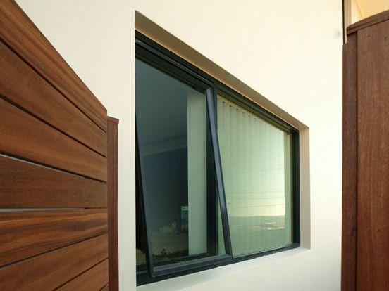 Awning window, black aluminium