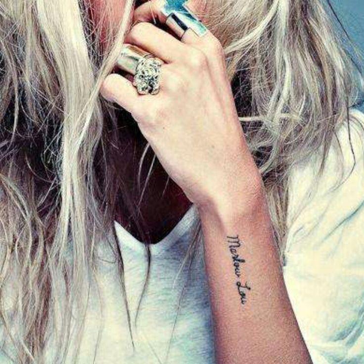 #Tattoo's  Nice Handwritting