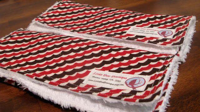 Caila-Made: Tutorial: Super Soft Burp Cloths