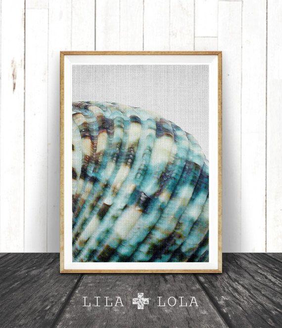 Sea Shell Print minimalistische kust Wall Art Decor door LILAxLOLA Noordwijk?