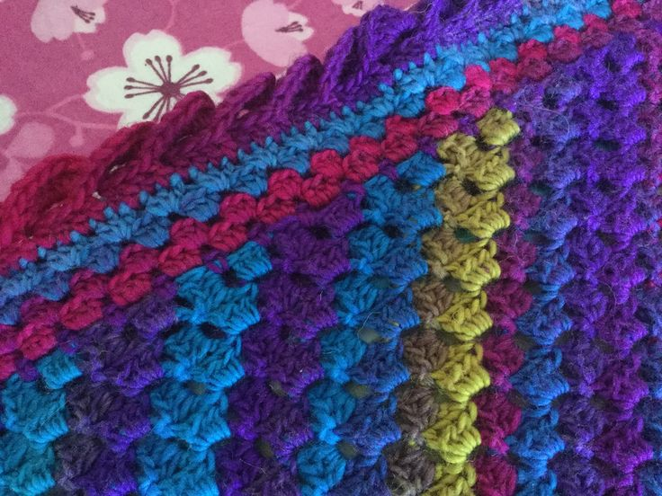 YouTube 'crochet wave border', it's so easy to do but takes a lot of wool!