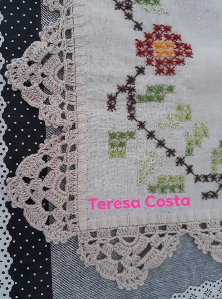 Pin De Maria Faustino Em Bicos Bicos De Croche Simples Barrado