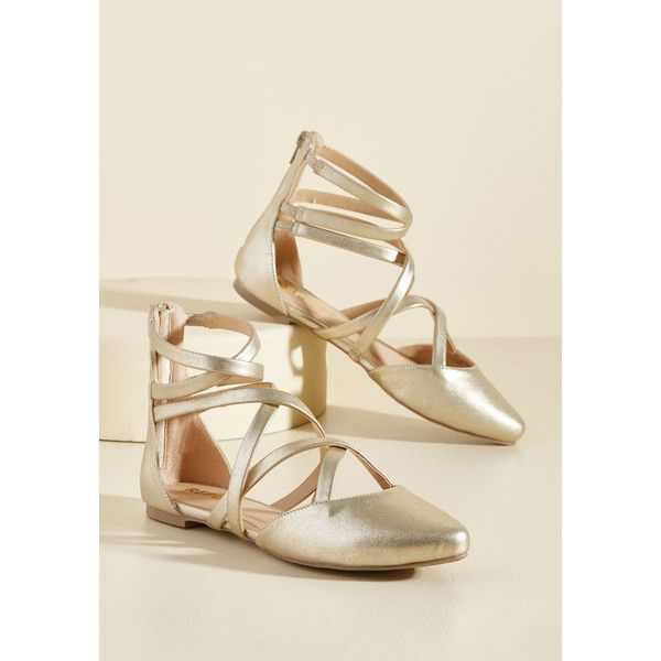 Elegant Intersections Flat ($28) ❤ liked on Polyvore featuring shoes, flats, ballet flat, flat, varies, ballet flats, criss cross ballet flats, pointed ballet flats, flat shoes and flat pointed toe shoes