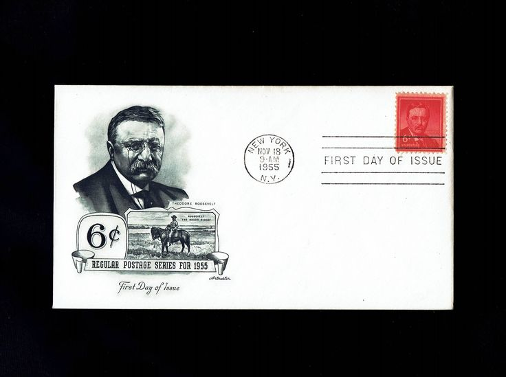 US 1039 Theodore Roosevelt Nov 18, 1955 New York NY First Day Cover lot #F1039-1 by VicsStamps on Etsy
